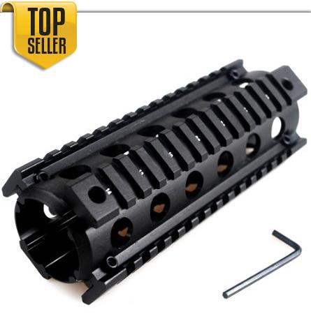".223 Carbine Rifle Quad Rail 4/15 RIS Handguard 6.5"" Picatinny Rail Mount System"