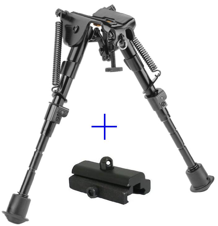 """5 level 6""""-9"""" rifle Bipod Fore grip Metal Mount TACTICAL folding Picatinny rail  by Ade Advanced Optics"""