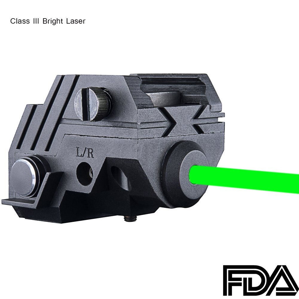 Rechargeable Ultra Compact GREEN Laser for pistol, rifle, shotgun (view)