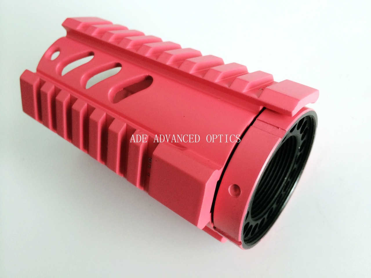 "HOT PINK! Pistol Length 4.2"" inch Free Float Quad Rail Rifle Handguard System 4"""