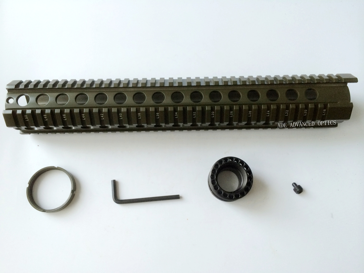 "Military OD GREEN 15"" inch Extra Long Free Float Handguard Rifle Quad Rail .223"