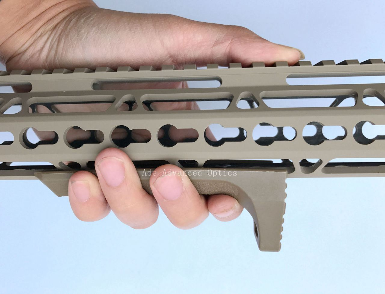 FDE HandStop/ Barricade Rest Tactical Super Slim Keymod Hand Stop rail cover Flat Dark Earth for handguard rail