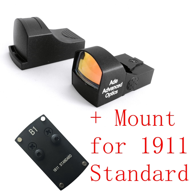 Ade Optics Compact MINI Red Dot Reflex Sight Pistol for Colt 1911 Standard