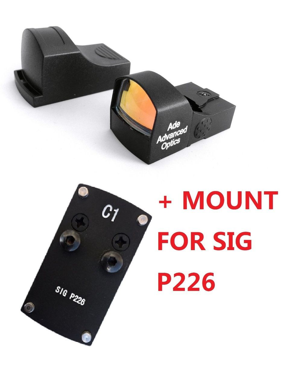 Ade Advanced Optics Compact Red Dot Reflex Sight for  Sig-Sauer-P226 Pistol