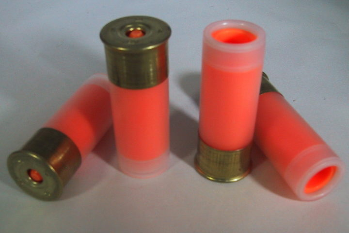 NEW! P2 BRASS Series 12 Ga Shotgun Snap Caps, Dummy Ammo, Training Rounds, Nickel, ORANGE