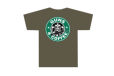 3001 Guns And Coffee T Shirt - Olive Drab, Medium