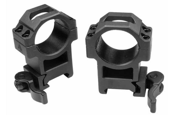 30mm Quick-detach Rings, High, Weaver-picatinny, See-thru, Compact, Law-enforcement Grade