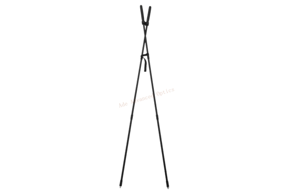 39″ Hunting Bipod Rifle Rest Bungee Corded Collapsible Shooting Standing X-Stick