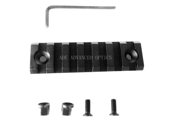 7 Slots 3 inch KeyMod 1913 Picatinny Rail Section Mil Spec Handguard quad