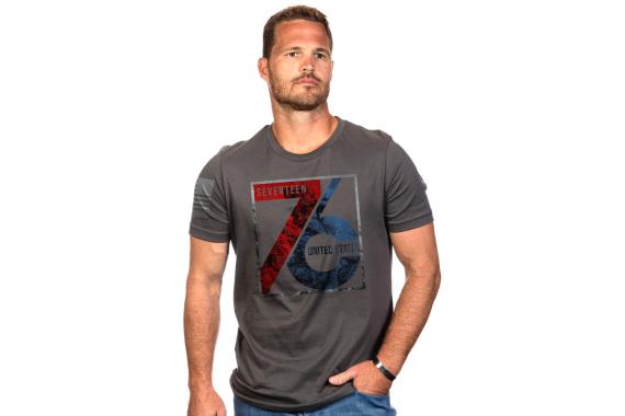 American Patriot 1776 T-shirt - Heavy Metal, 2x-large