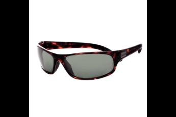 Anaconda Sunglasses, Dark Tortoise Frame, Polarized Green Lens