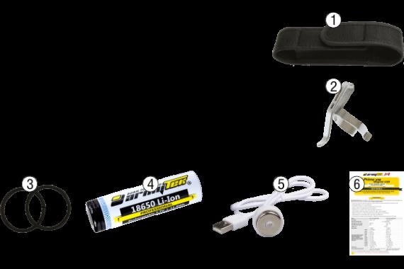 Armytek Prime C1 Pro XP-L Magnet USB (Warm) + 18350 Li-Ion/LED flashlight