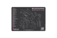 Browning Buckmark Schematic Promat - Charcoal Grey-pink