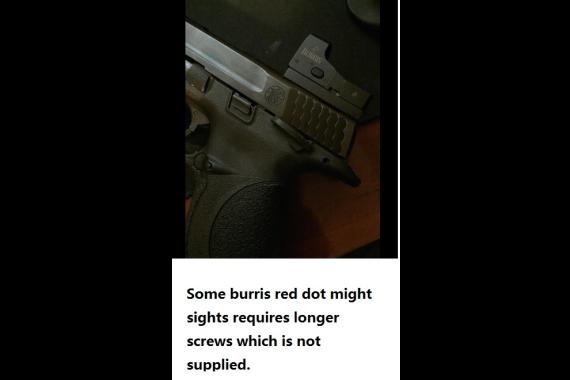 Colt 1911 Pistol Mount Plate for Sightmark, Burris Micro Red Dot Reflex Sight