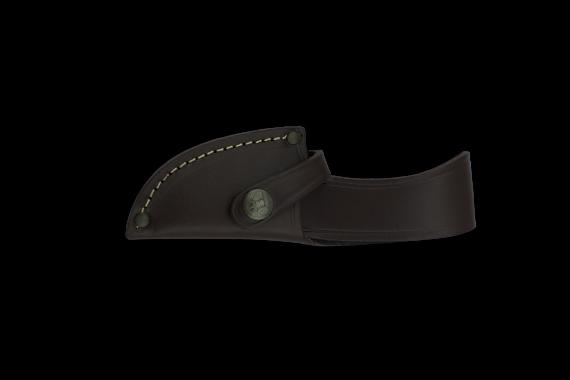 Cudeman Skinner Knife with 7.5 cm Molybdenum Vanadium Steel Blade & Olive Wood Handle + Brown Leather Sheath
