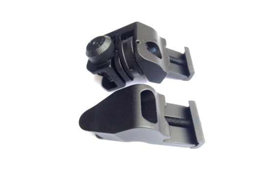Front and Rear 45 Degree Offset Rapid Transition BUIS Backup Iron Sight Rifle