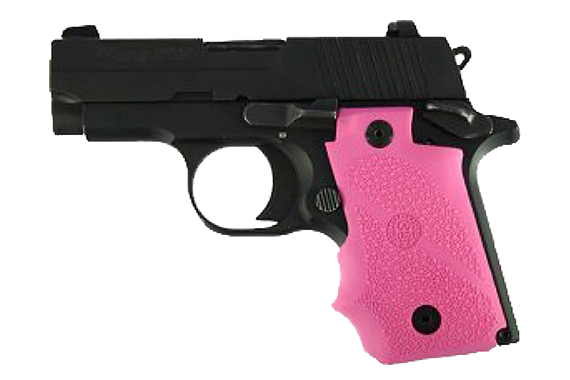 Rubber Wraparound Grip With Finger Grooves - Sig Sauer P238 - Pink