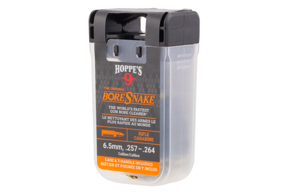 Boresnake Den With Case & T-handle - Rifle 6.5mm, .257-.264 Caliber