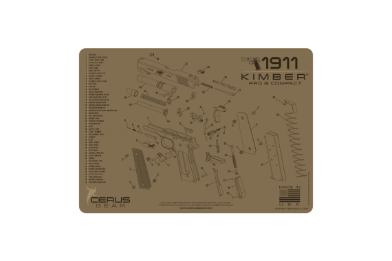 Kimber Compact & Pro Schematic Promat - Coyote Tan