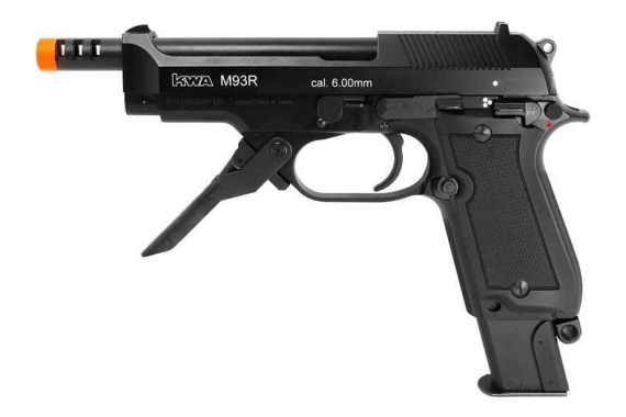 Kwa M93r Airsoft Pistol With Ns2 Gas System - 0.240 Caliber