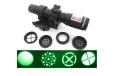 Multi 4 RETICLE Adjustable Green Laser Flashlight Designator Rifle Illuminator