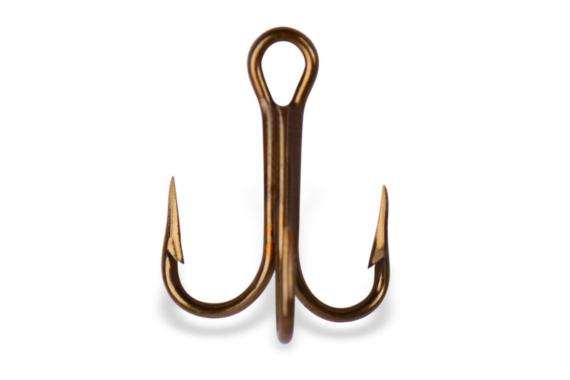 Mustad Treble Hook OShaughnessy-Bronze 5 Count Size 12