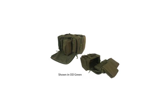 Ranger Dlx 4 Pistol Modular Range Bag - Black-teal