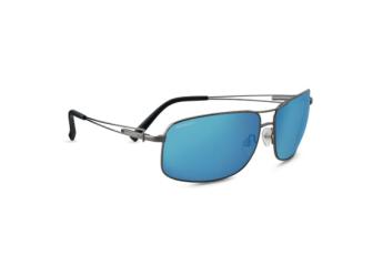 Sassari Sunglasses - Shiny Gunmetal Frame, Polarized 555nm Blue Ultra-light Mineral Lens
