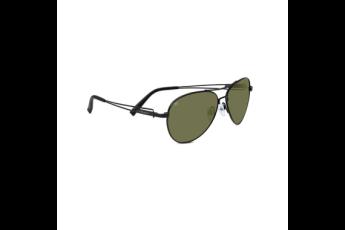 Serengeti Flex Brando Sunglasses, Satin Black, Polarized