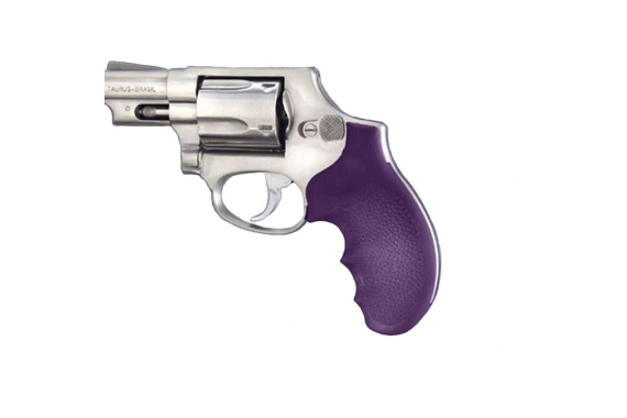 Soft Rubber Grip With Finger Grooves - Taurus Small Frame - Purple