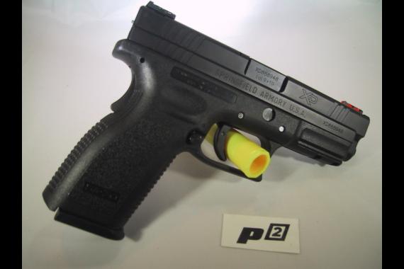 "Springfield XD Essentials 9mm 4.0"" pistol with HIVIZ Optical Sights"