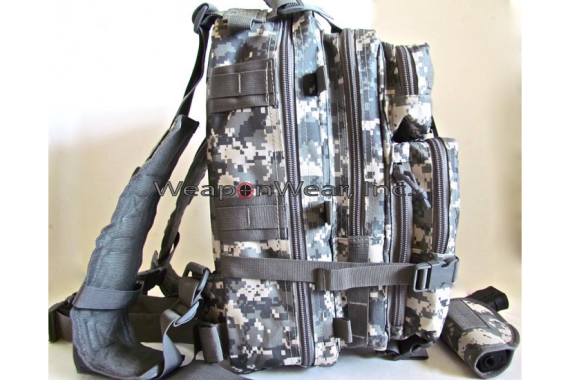 TACTICAL BACKPACK HOLSTER INCLUDED EXPANDABLE Digital Camo