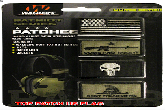 WALKER'S WALKERS PATRIOT SERIES PATCHES FOR EAR MUFFS CAPS PACKS