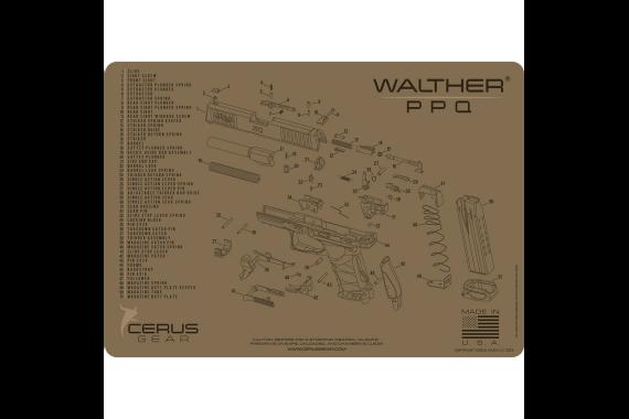 Walther Ppq Schematic Handgun Promat - Coyote Tan