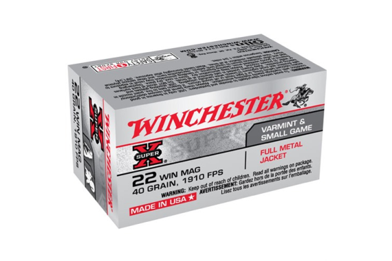22 Win Mag Ammunition 40gr Fmj - 50 Rounds