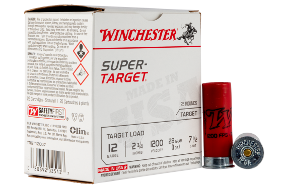 Winchester Ammo Super Target, Win Trgt12007  Sup Tgt 7.5  1oz  25-10
