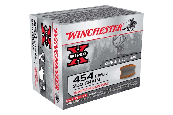 Winchester Ammo X454C3 Super-X 454 Casull 250 GR Jacketed Hollow Point 20 Bx/10 Cs