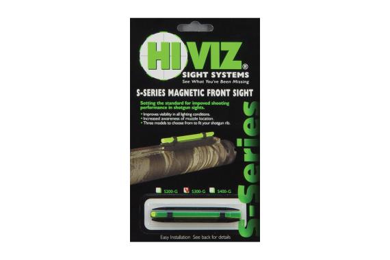 Hi-Viz Narrow Magnetic Shotgun Sight - Green