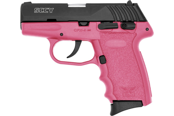 Sccy Cpx4-cb Pistol Dao .380 - 10rd Black/pink W/safety