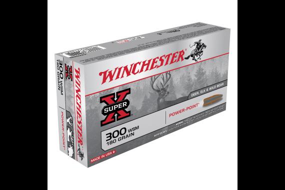 300 Win Short Mag Ammunition 180gr Power-point - 20 Rounds