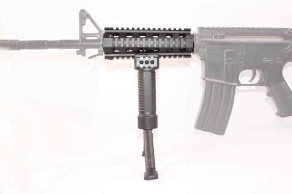 ForeGrip 3in1 Grip +Steel Inserted Leg Bipod + Side Picatinny Rail